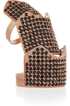 Eddie Borgo signature hinged ring. Love this rose gold-plated version, encrusted with pavé black crystals. Wear it with even the simplest of outfits for a serious dose of fashion attitude.