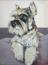 Me: Nice pic of a Schnauzer. PP: Of course this is one of my favorite Drago paintings.