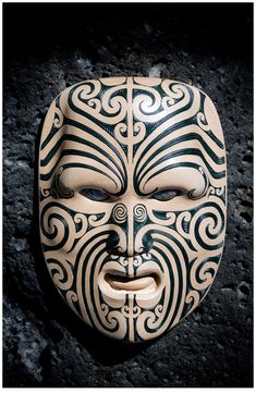 mascara Maori Wood Carving, Auckland, New Zealand -- TRAVEL by Andrew Shaylor, via Behance mascara Arte Tribal, Tribal Art, Samoan Tribal, Filipino Tribal, Mascara Maori, African Masks, African Art, Mascara Papel Mache, Tiki Maske