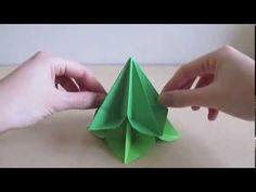 Vánoční origami stromek **