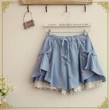 Fairyland - Diamond Embroidered Lace Trim Shorts