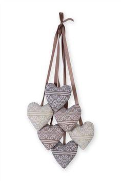 Fabric Heart Bunch