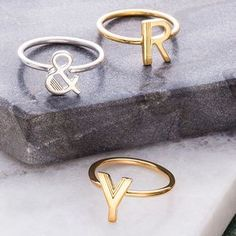 Stacking Initial Rings. Discover thoughtful, personal and wonderfully unique jewellery gifts for her this Christmas