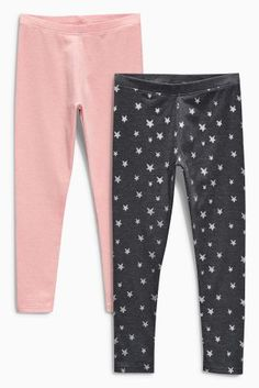 Buy Two Pack Charcoal Star Print And Pink Leggings from the Next UK online  shop c8b80f7591c