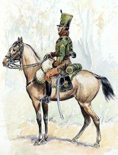 Sergeant of Hussars Regiment 7, 1814-15. Fig. R. Louis.