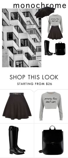 """Rainy day"" by medina-skrebo ❤ liked on Polyvore featuring New Look, MINKPINK, Tory Burch, Radley and Alexander McQueen"