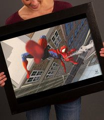 Jonah is saying he needs more pictures of Spidey. Printed on Premium Luster Photo Paper with Archival Quality Inks. Frame is not included. More Pictures, Pop Culture, Poster Prints, Paper, Frame, Shark, Robot, Sharks, Robots