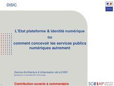 L'État plateforme & Identité numérique (DISIC 2014 11-12)