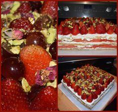 watermelon rose cake