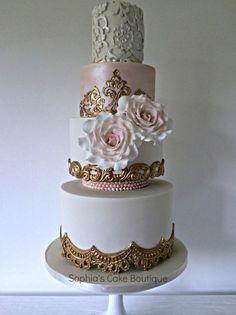 Blush & Gold Cake