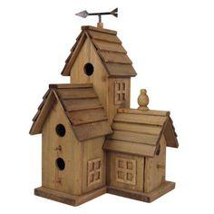french birdhouses | Large Wooden Bird House French Chateau Multi Nesting Box & Free Bird ...