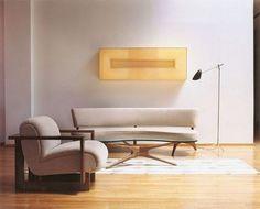 Designs by Vladimir Kagan Mid Century Style, Furniture Making, Vintage Furniture, Living Area, Bookshelves, Future House, Interior Inspiration, Home Furnishings, Home Goods