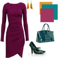 A fashion look from October 2012 featuring jersey dress, leather shoes y satchel handbags. Browse and shop related looks.