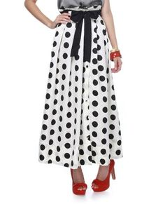 Darling Retro Skirt - Maxi Skirt - Polka Dot Skirt - $77.00 - StyleSays