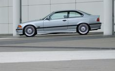 Silber BMW e36 coupe on OEM BMW Styling 5 (BBS RC) wheels