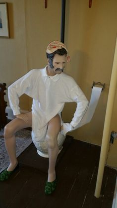 Hahaha.. i was at a museum and walked in on this guy on the toliet. ooops!!