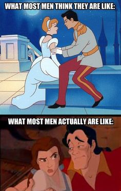 Never compare yourself to a Disney prince, fellas. | See More about disney princes and disney.
