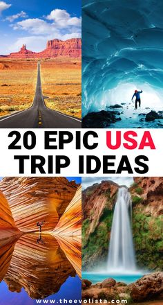 Whether you cancelled your trip because of Corona Virus or you just hate flying, here are great USA trip ideas that will be an amazing vacation. Usa Travel Guide, Travel Usa, Travel Tips, Us Travel Destinations, Places To Travel, Vacation Trips, Vacation Spots, Vacations, Vacation Ideas