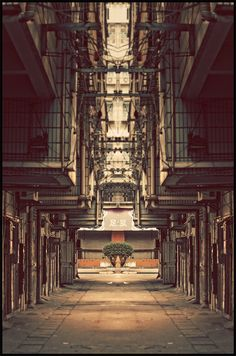 I'm loving the symmetry created in these mirror photographs of urban China by Austrian designer and photographer Atelier Olschinsky. See the entire series here, and his recently published illustrations entitled Game Zone are pretty mind-blowing as well.