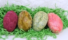 Fabric Easter Eggs, Beautiful Batiks in Many Colors for your Easter Decor, Your  Choice of 4. $12.00, via Etsy.