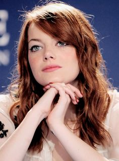 Emma Stone, thinking about me. It's okay Emma. One day we can be together hahaha.