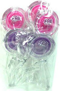 Fab Beauty Lollipop Lip Gloss Cherry and Grape .12 Oz Each Pack of 6 Great Girl Party Favor Birthday Handout or Stocking Stuffer by Fab Beauty. $6.99. 3 cherry. lollipop lip gloss 6 pack. 3 grape. Yummy Fab Beauty Lollipop lip glosses that smell as good as they look!