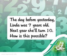 It's #FridayFunDay, and time for our #brainteaser. Let's see how much time you take to solve this one. #Flordis #KeenMind
