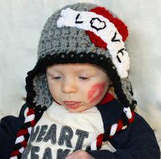Boys Valentines Day Hat, Tattoo valentine, Love Hat. $16.00, via Etsy.