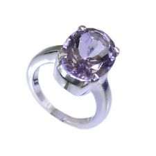 Amethyst 925 Sterling Ring L-1in studly Purple jewellery AU KMOQ