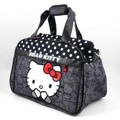 I found 'Hello Kitty Black with Polka Dots Weekender Bag' on Wish, check it out!