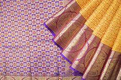 Handwoven Kanjivaram Silk Sari with Chakaram 1029834