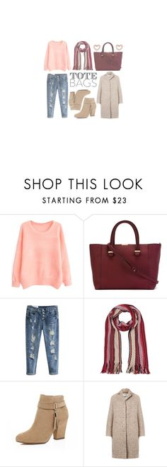 """Tote Bags"" by mfardilha ❤ liked on Polyvore featuring Victoria Beckham, Missoni, River Island, Acne Studios, Marc by Marc Jacobs, women's clothing, women's fashion, women, female and woman"