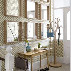 squares of hallway mirror