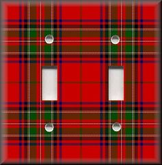 Light Switch Plate Cover Red and Green Tartan Print Home Decor | eBay BellaRusticaDesign.com