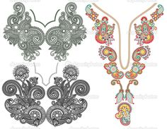 Green neckline embroidery designs 001 embroidery designs for Descargar embroidery office design 7 5 full