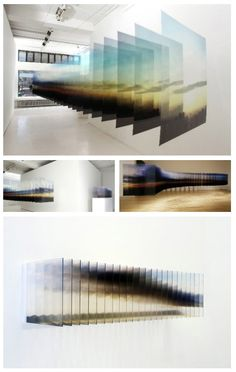 Layered Landscapes by Japanese artist Nobuhiro Nakanishi