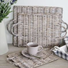 Set of 3 willow trays | Bliss and Bloom Ltd