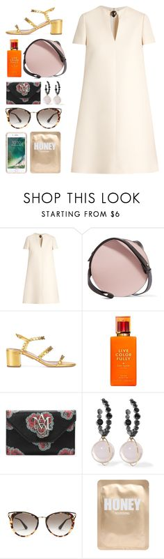 """6.507"" by katrinattack ❤ liked on Polyvore featuring Valentino, Marni, Aquazzura, Kate Spade, Alexander McQueen, Prada, Lapcos, Griffin, brunch and polyvorefashion"