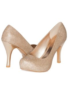 These gold heels are just right for  prom. They ll look fantastic with 780e44a05cc7