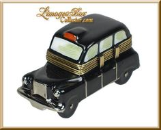 London Black Taxi Cab Limoges box by Beauchamp Limoges www.LimogesBoxCollector.com