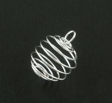 8SEASONS 20 postriebrená Špirála z korálok Klietky Prívesky Nálezy 25x20mm nikel 2016 nový (Čína (pevninská časť))