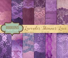 Lavender Shimmer Lace Backgrounds by Origins Digital Curio on @creativemarket