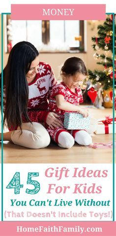 Are you searching for gift ideas for kids that doesn't include toys? Whether it's adorable clothes, craft supplies, or science experiments, there is a gift for everyone on your list this year. Click to read and find your favorite. #giftideas #giftsforkids via @homefaithfamily