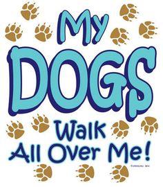 Activewear My Dog Walks All Over Me Hoodies Sweatshirt Navy/paw Print Pet Supplies