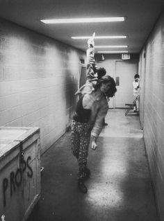 Mick Jagger backstage 1975