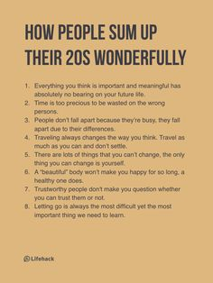 Someone Asks People To Sum Up Their 20s, And The Answers Are So True�026