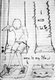 Emo is my life Sad Drawings, Amazing Drawings, Cartoon Drawings, Drawing Sketches, Drawing Ideas, Tumblr Relationship, Relationships, Emo Cartoons, Fallen Angel Art