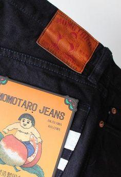ac0a45b636f 0202SP Indigo X Black 15.7oz Selvedge Slim fit straight · IndigoSlimIndigo  Dye. Momotaro Jeans ...