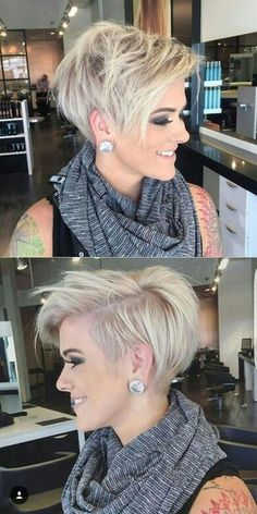 Funky Short Hair, Short Grey Hair, Short Hair Cuts For Women, Stylish Short Haircuts, Short Hairstyles Over 50, Cheveux Courts Funky, Longer Pixie Haircut, Hair Affair, Tips Belleza
