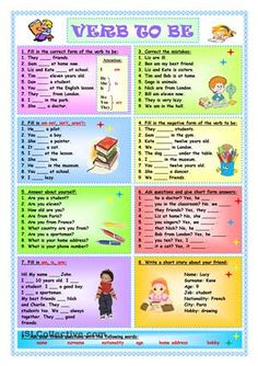 Nine exercises which can be used both for training and for test of the verb to…